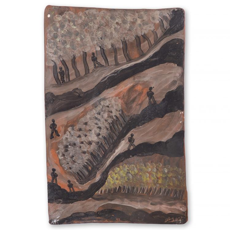 Jules Agard, 2-sided ceramic tile