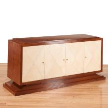 Jules Leleu style parchment fronted sideboard