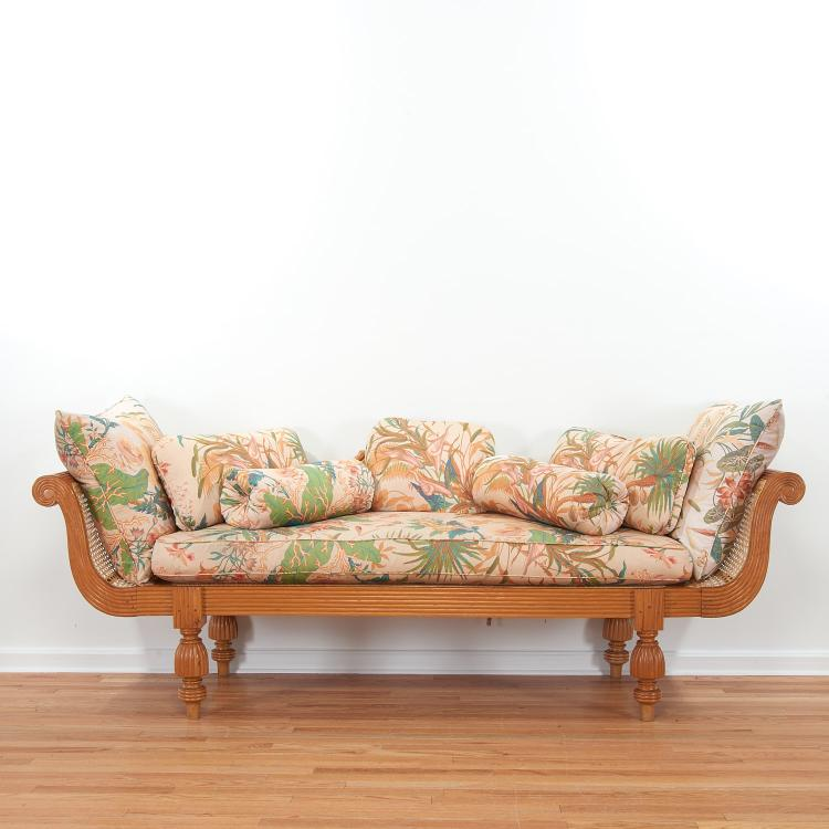 Anglo indian carved hardwood sofa for South asian furniture