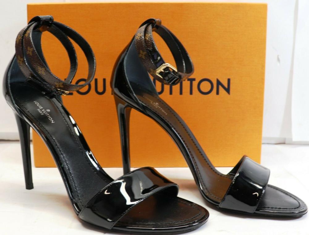 a51b6beed567 LOUIS VUITTON WOMENS Shoes 1A4E2A CALL BACK SANDAL BLACK SIZE US 8   EU  38.5 WITH