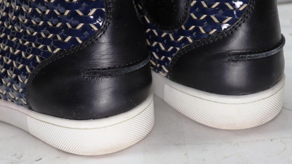 dafa853f8a68 Christian Louboutin Mens Shoes Sneakers Rantus Calf Cordage Version Eclipse  US 8 Size 41