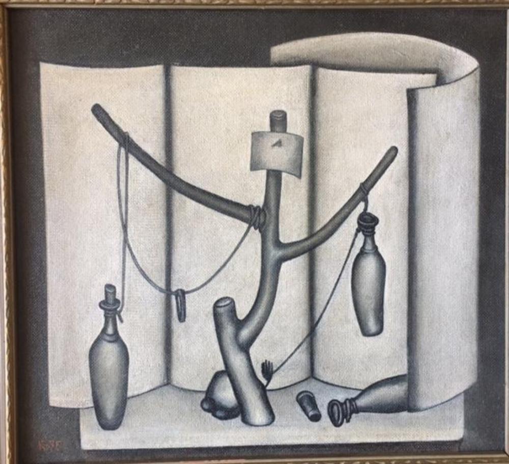 Lot 7: Dmitri Krasnopevtsev (Russian, 1925-1995) Oil Masonite