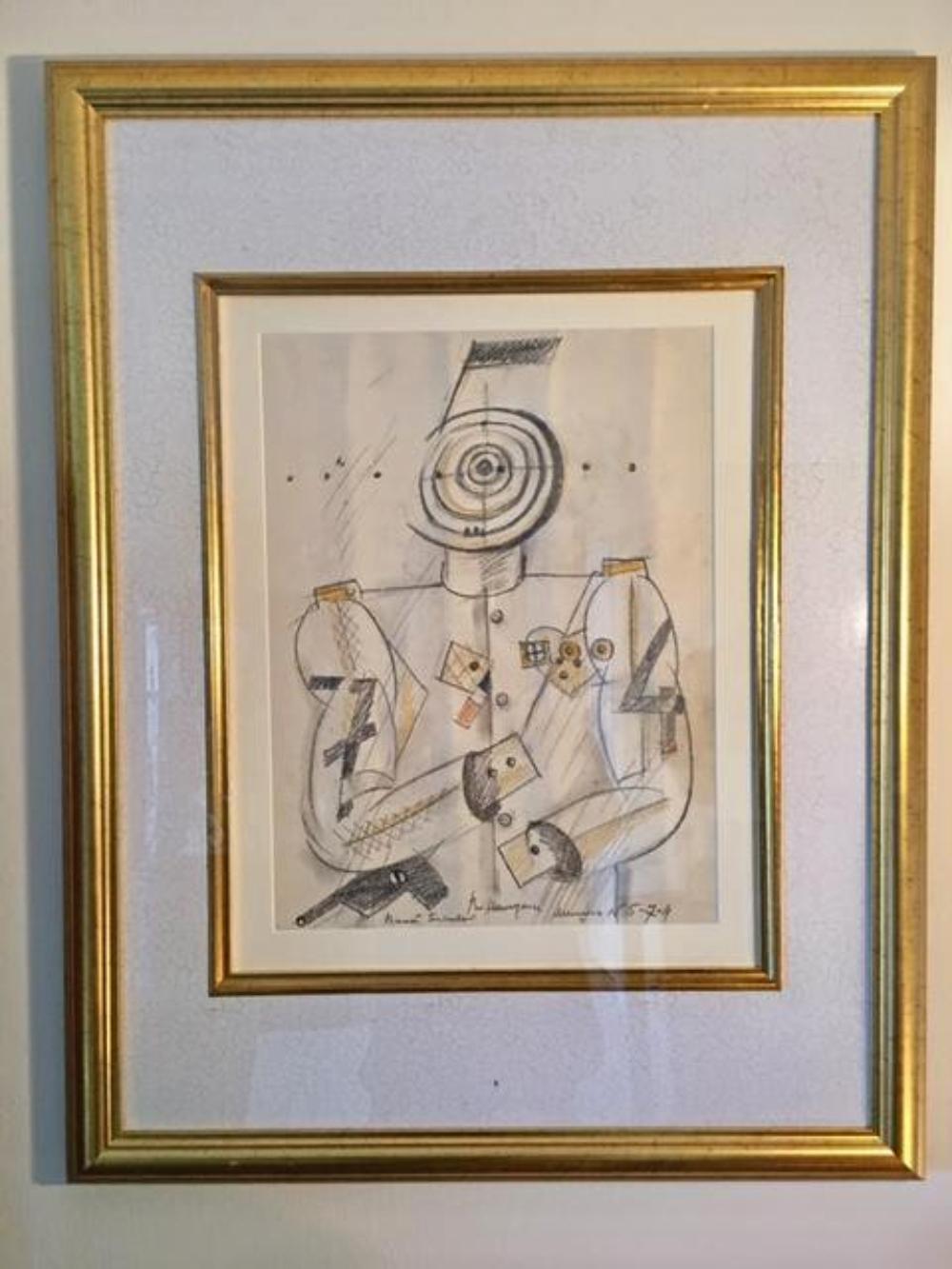 VLADIMIR NEMUKHIN ( Russian 1925-2016 ) Pastel Graphite