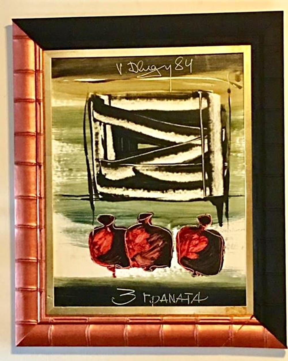 VITALY DLUGY (Russian, 1934-1990) Painting Oil Gouache