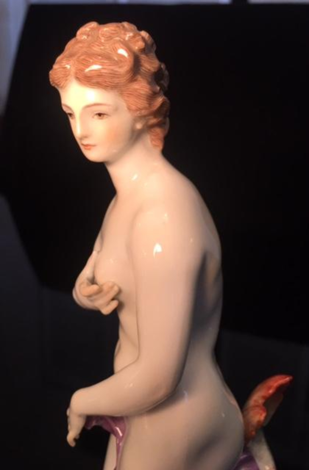 Lot 22: MEISSEN Nude Porcelain Figurine Nymph w Fish
