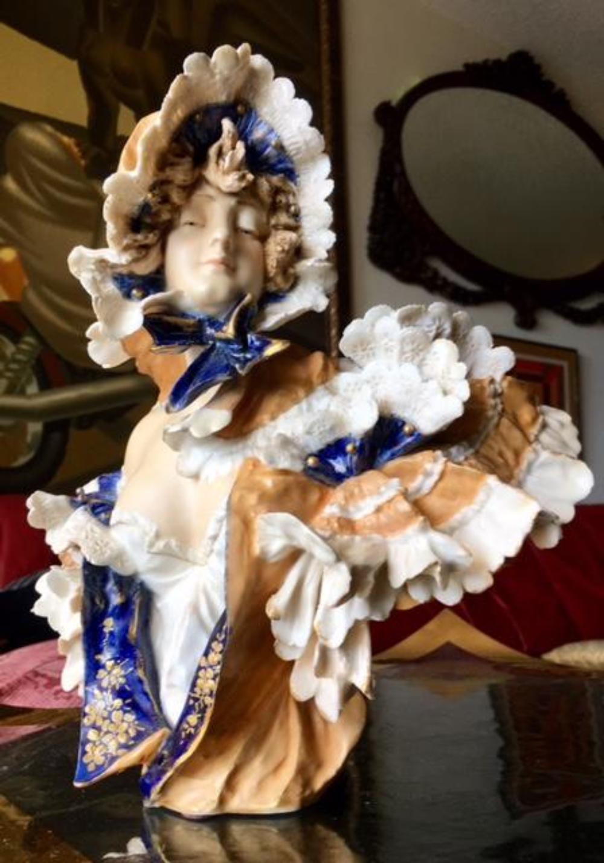 Lot 29: Riessner Stellmacher Kessel Teplitz Porcelain Bust