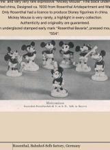 Lot 24: ROSENTHAL 1930s Disney Mickey Mouse Porcelain Figurine