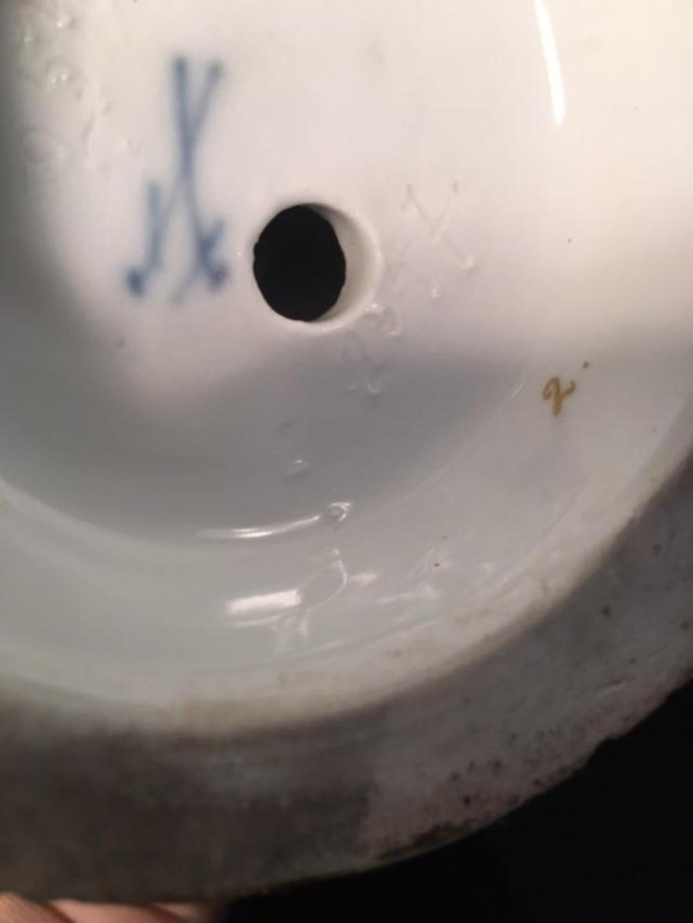 Lot 26: Pair Antique MEISSEN Porcelain Candelabras Candleholder