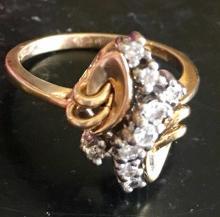 Lot 43: Ladies 14K Yellow Gold 0.5CT Diamond Ring