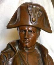 """Lot 16: EMILE PINEDO (French, 1840-1916) Bronze 13.5"""" Napoleon"""