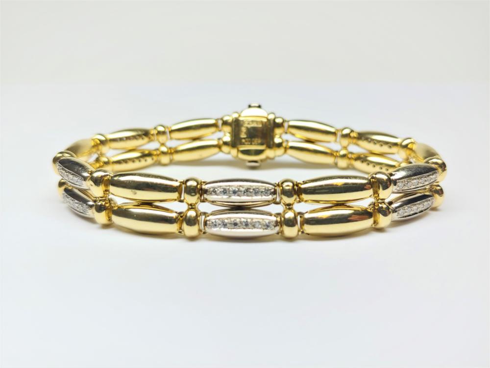 Chimento 18k Yellow Gold Diamond Bracelet Approx 1.50 TCW Retail Price $12k