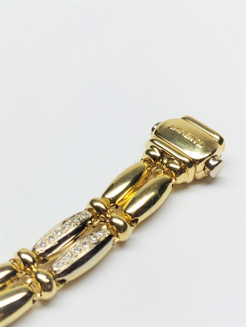 Lot 52: Chimento 18k Yellow Gold Diamond Bracelet Approx 1.50 TCW Retail Price $12k