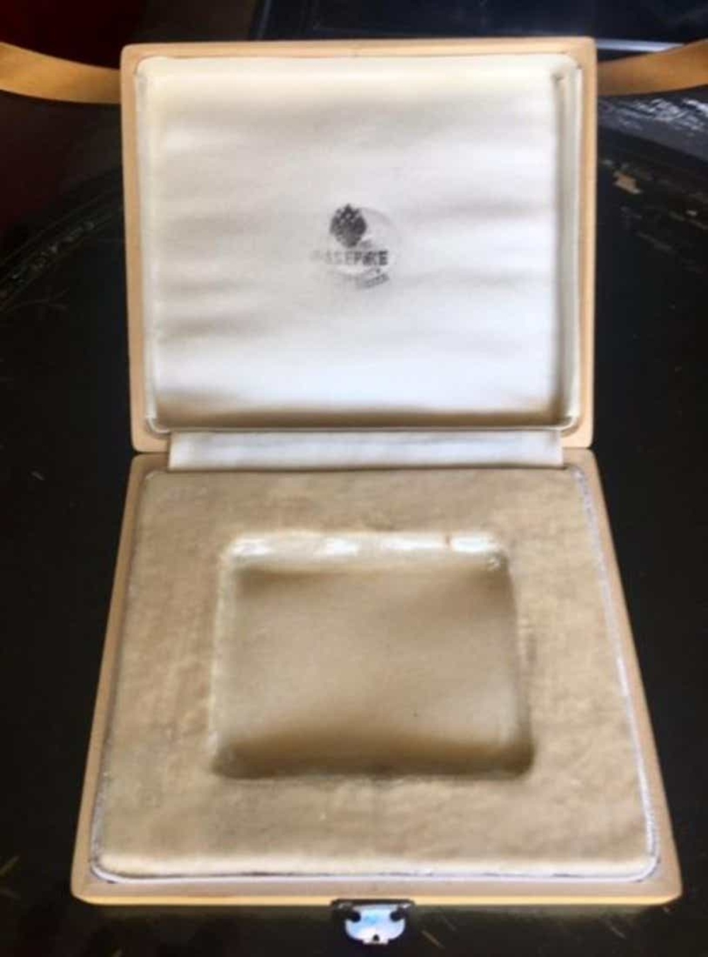 Russian Imperial Faberge Wooden Box From Cigarette Case