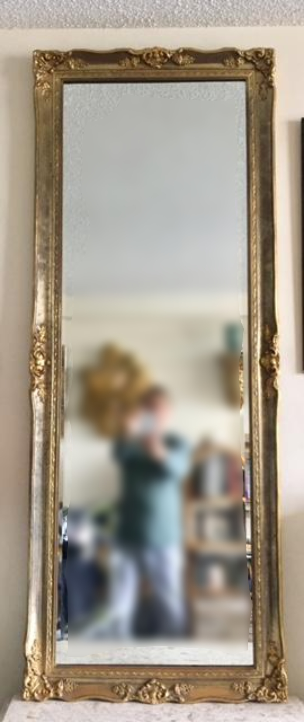 LARGE Continental Carved Giltwood Mirror