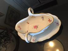 Lot 32: Antique MEISSEN Porcelain Large Gravy Boat Floral Design