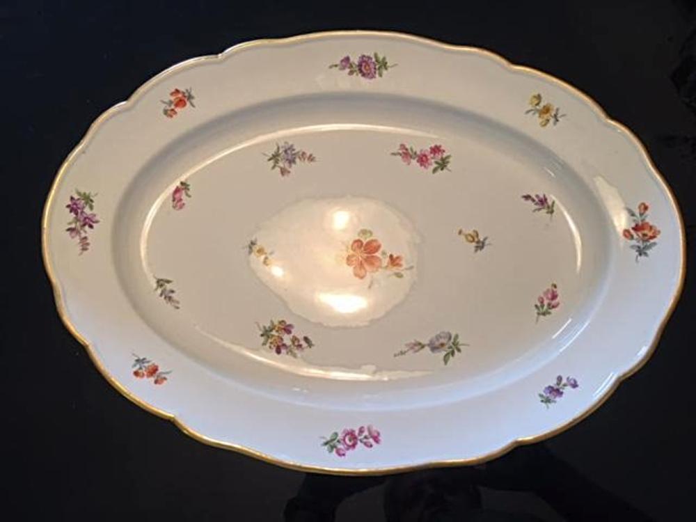 Large Antique MEISSEN Serving Tray Platter Dish Plate