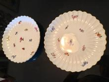 Lot 34: Pair of Large Antique MEISSEN Platters Serving Dishes Bowls
