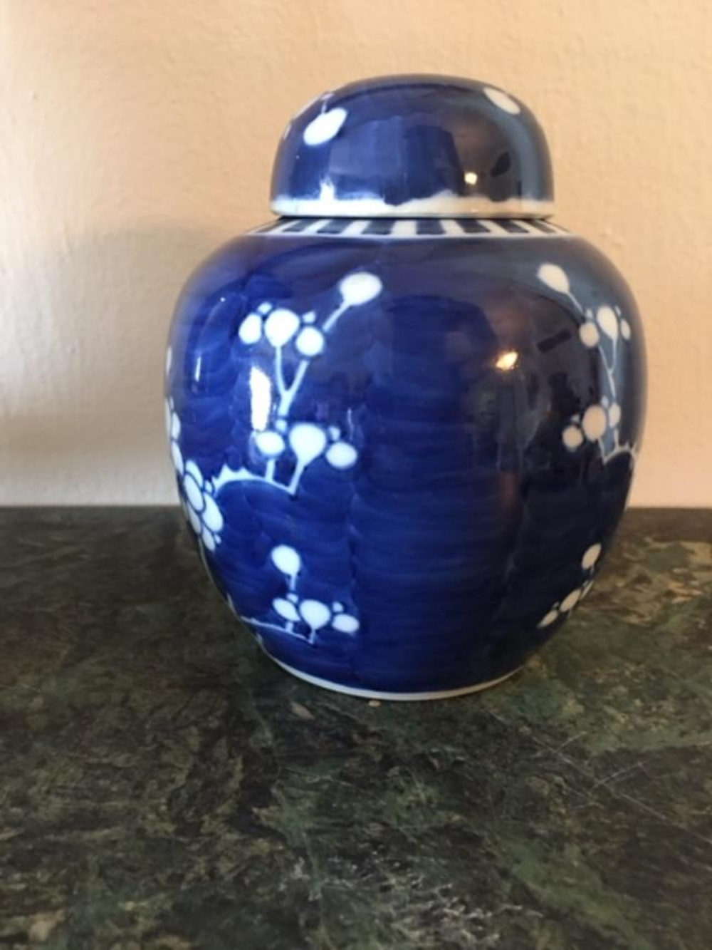 Lot 11: Antique Chinese Kang-Hsi Porcelain Covered Ginger Jar Blue White