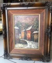 Lot 102: Mystery Artist Signed Oil on Canvas Painting