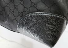 Lot 148: Gucci GG Guccissima Black Large Canvas and Leather Carry On Tote Travel Bag