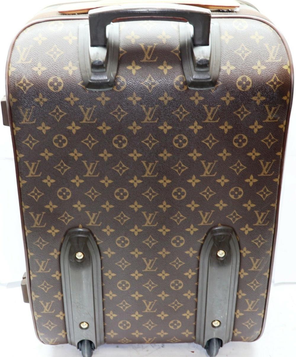 Lot 147: Louis Vuitton Monogram Pegase 55 Travel Carry On Bag