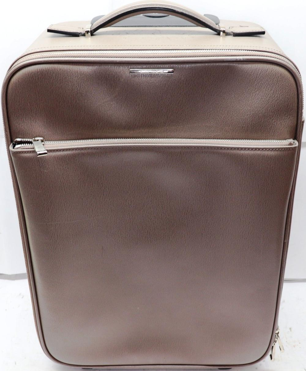 Lot 146: Ermenegildo Zegna Maserati Collect Travel Trolley Carry On Bag Espresso Brown Leather