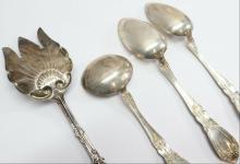 Lot 141: Alvin Sterling Prince Eugene Silver 4pc Serving Fork Spoon Ladle