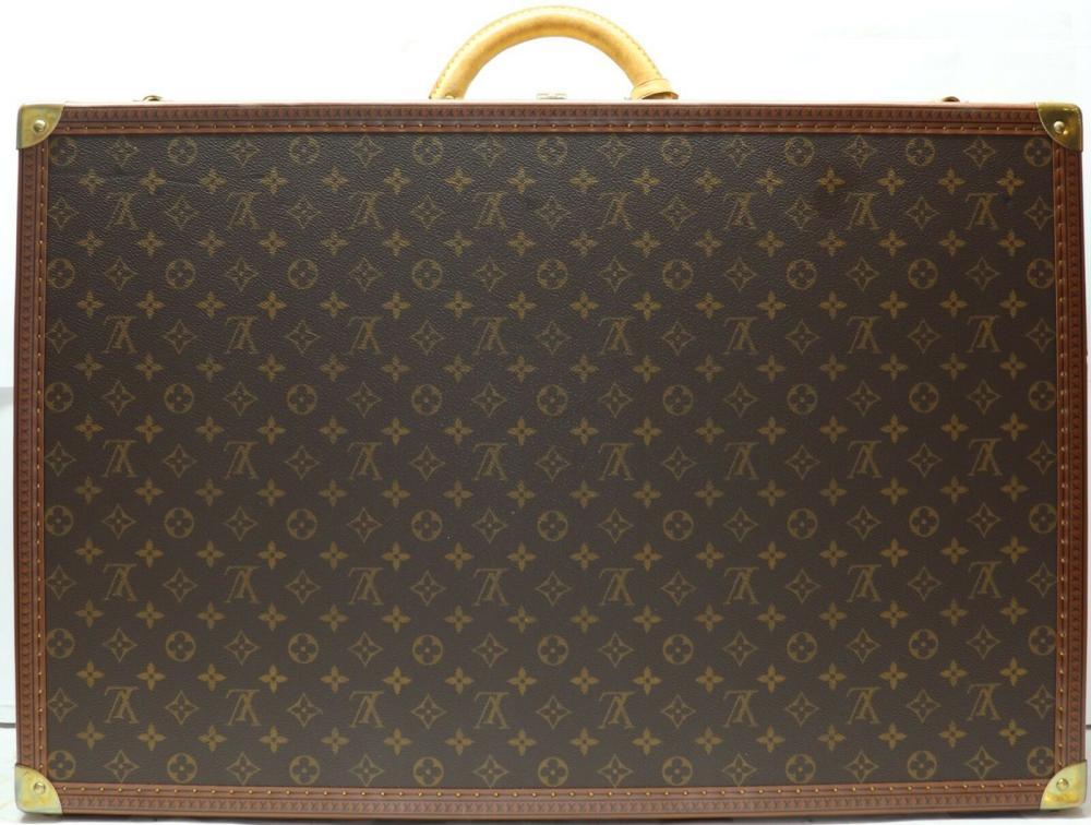 LOUIS VUITTON Monogram Canvas Bisten 70 Hardsided Suitcase Brown Leather