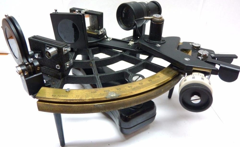 Japanese WWII OGAWA SEIKI PLATH SEXTANT Marine Navigation Instrument