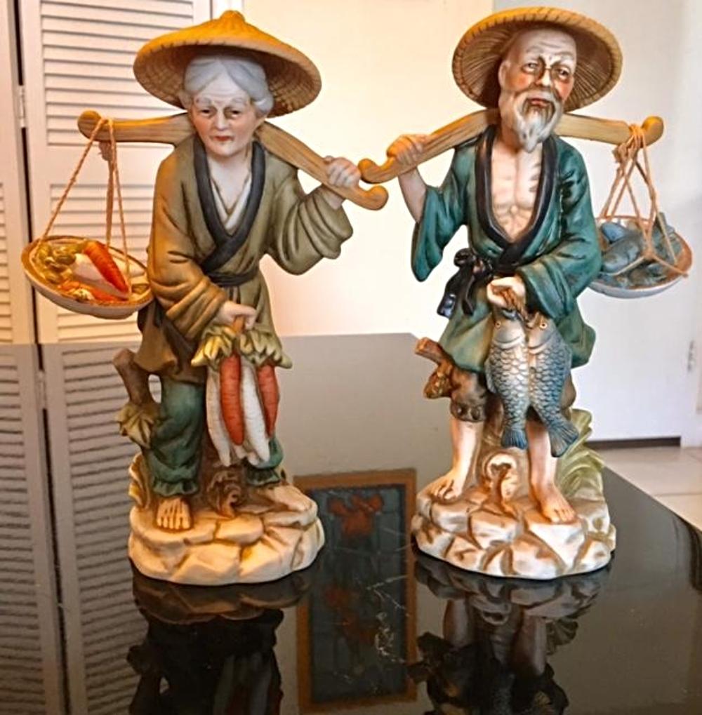Pair of Vintage Japanese Porcelain Figurines