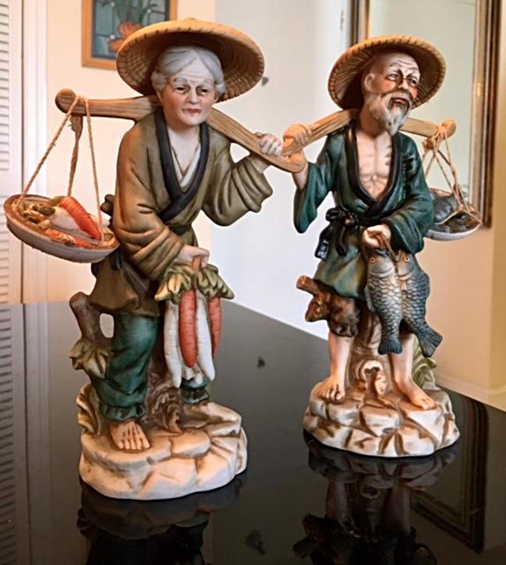 Lot 111: Pair of Vintage Japanese Porcelain Figurines