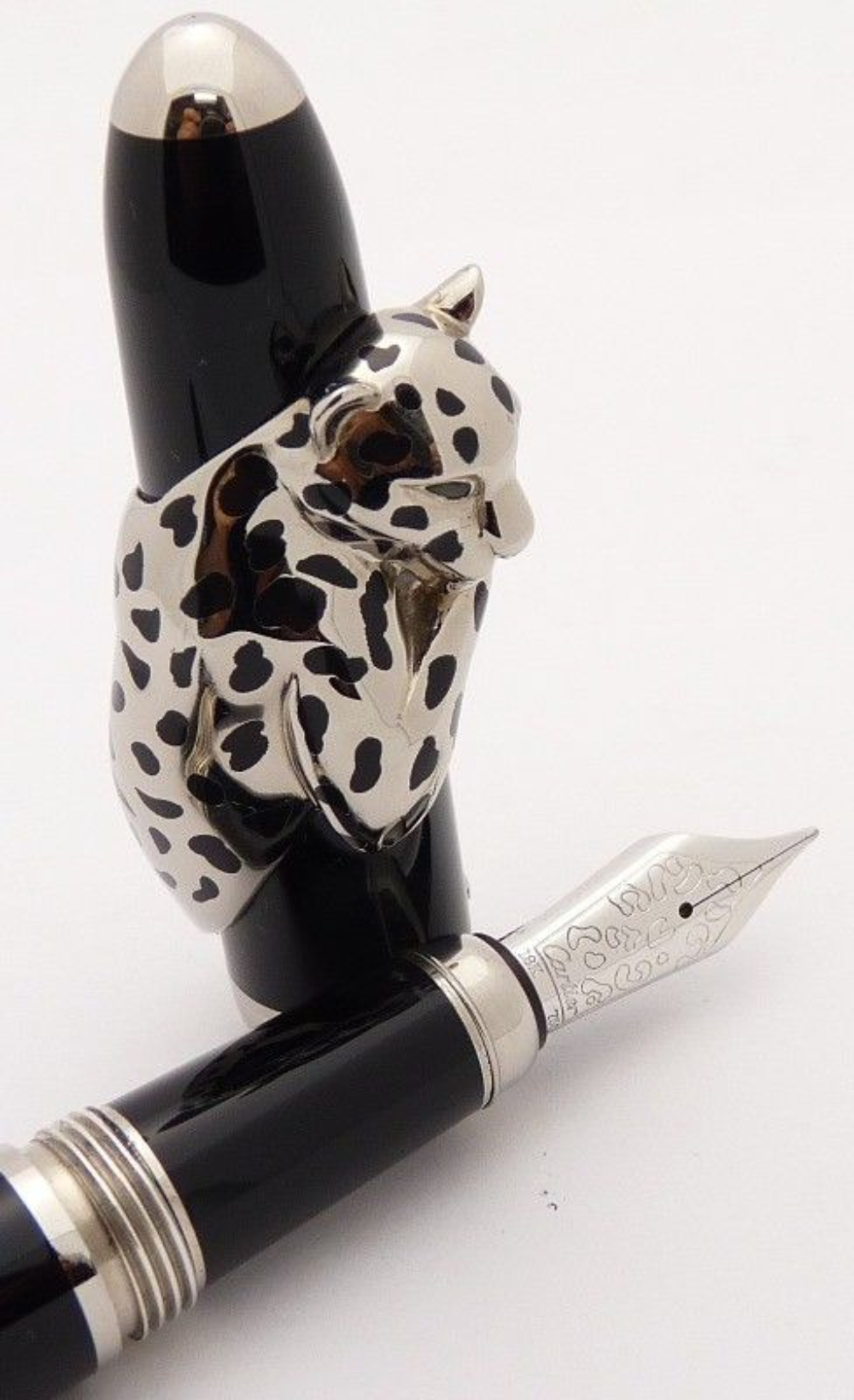 CARTIER PANTHER De Initiated Fountain Pen 18K Gold and 925 Sterling Silver