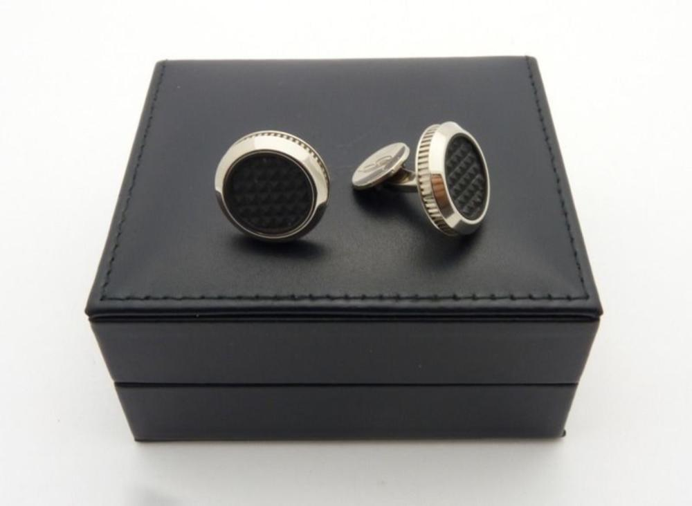 Lot 59: BREGUET Cufflinks 18K White Gold MARINE CLOU DE PARIS 9901