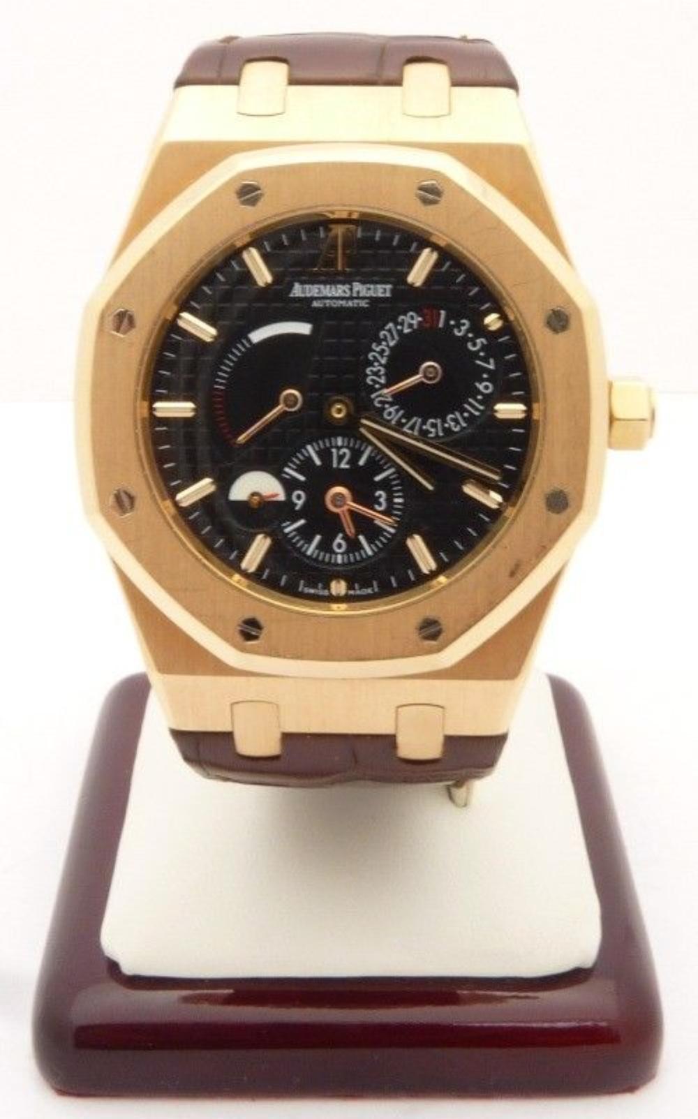Audemars Piguet Dual Time Power Reserve 18K Rose Gold Watch