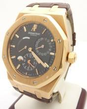 Lot 64: Audemars Piguet Dual Time Power Reserve 18K Rose Gold Watch