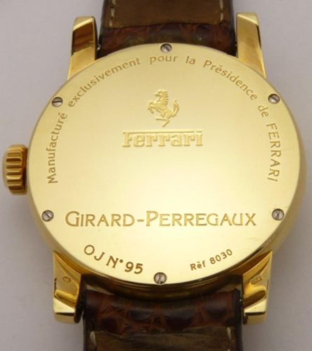 Lot 66: GIRARD PERREGAUX 8030 Ferrari Men's Watch 18K Gold