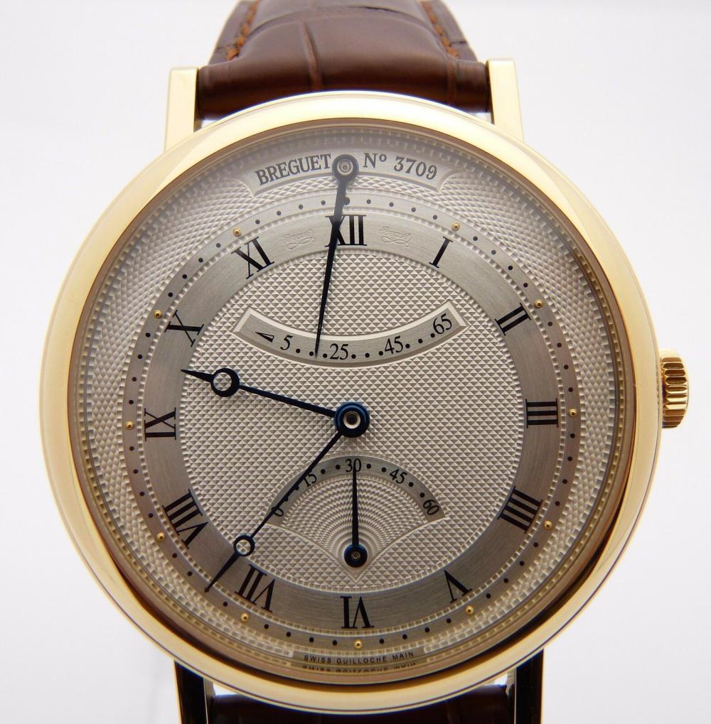 BREGUET Retrograde Seconds Mens 18K Gold Watch
