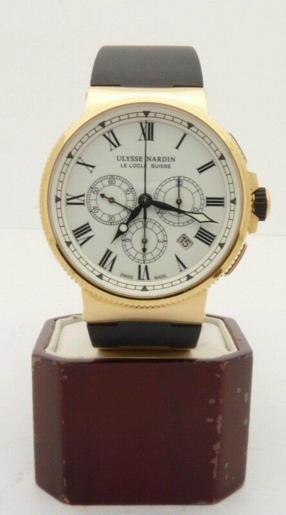 Lot 71: Ulysse Nardin Marine Chronograph Men's Watch 18K Gold