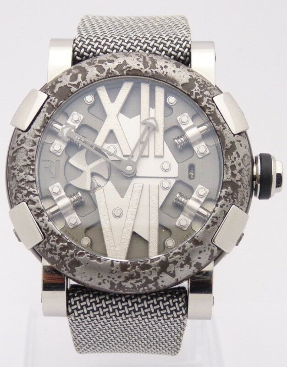 ROMAIN JEROME Men's Steampunk Stainless Steel Limited Edition Watch RJ.T.AU.SP.004.01