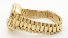 Lot 74: ROLEX 69178 Oyster Perpetual Datejust Pleiade President 26mm Ladies 18K Gold Diamond Watch