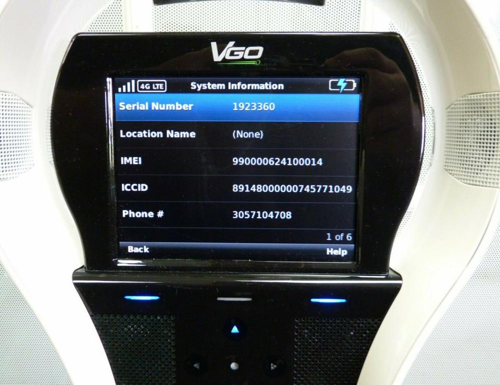 Lot 83: VGo V1000-VZ1 Telepresence Diagnostics Monitoring Robot