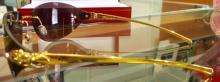 Lot 91: Cartier Gold Panthere De Cartier Rimless Sunglasses