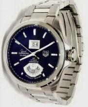 Lot 80: Tag Heuer Grand GMT Automatic Carrera St. Steel Watch with Box