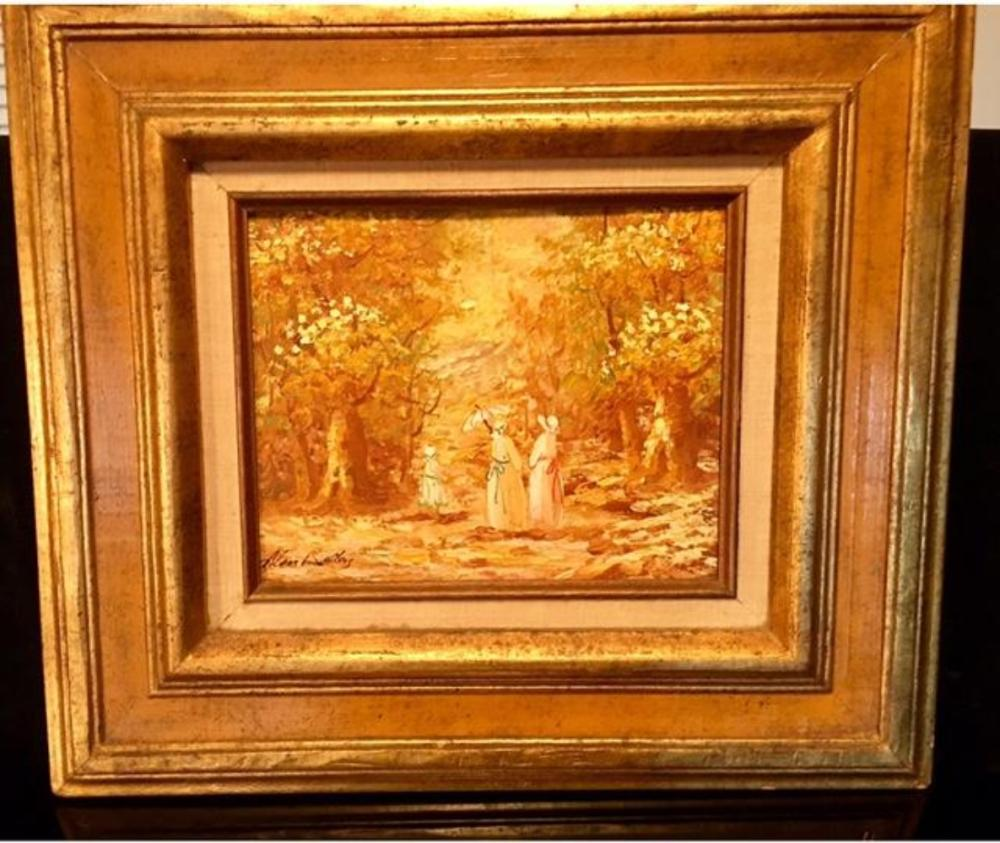 Lot 128: A. Walters (British, 20th century) Oil on Board Painting