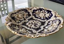 Lot 130: Antique MEISSEN Porcelain Charger Large Bowl Platter