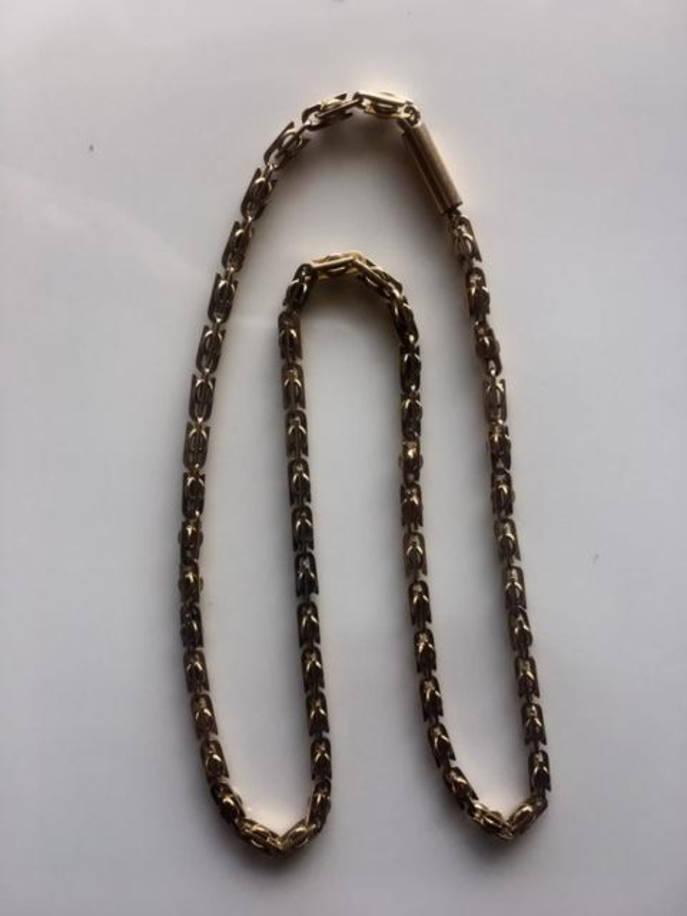 Lot 132: Estate 14K Yellow Gold Thick and Heavy Chain Unusual Link