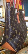 Lot 92: LOUIS VUITTON Monogram Cabas Piano Brown Bag Tote