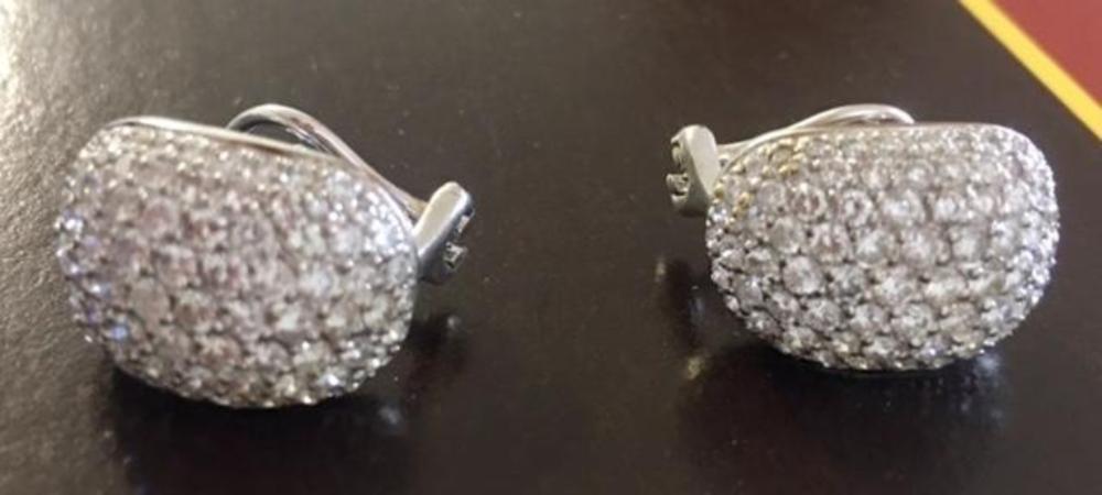 Earrings 18K White Gold 4.4ct Diamonds