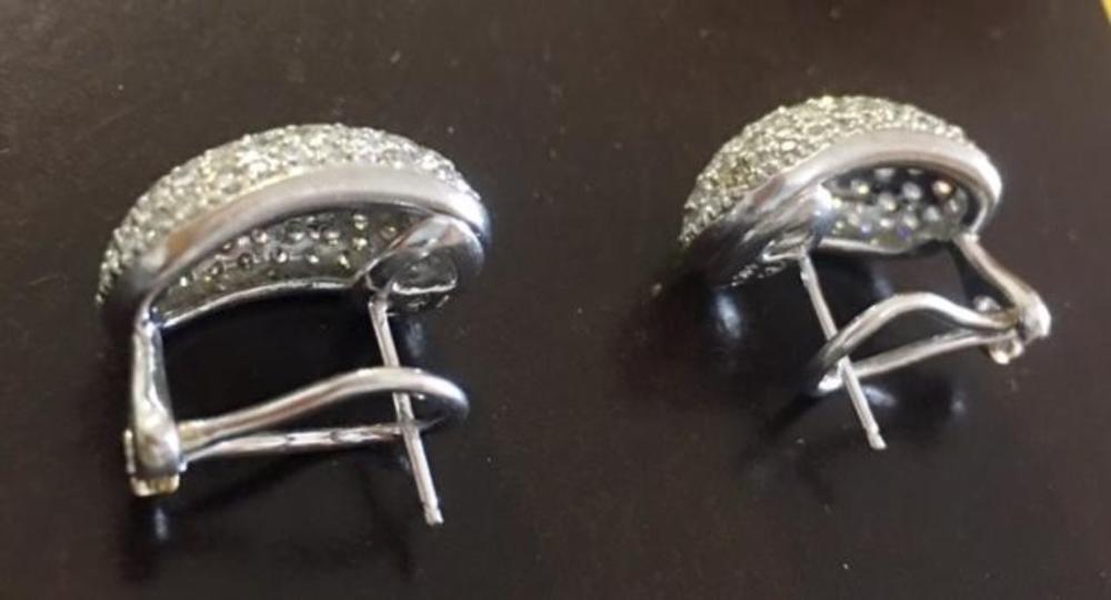 Lot 178: Earrings 18K White Gold 4.4ct Diamonds