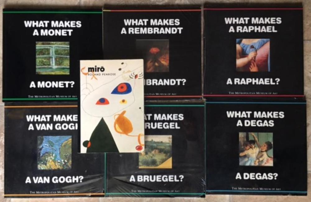 Collection of 7 Art Books Raphael, Rembrandt, Bruegel, Miro, Monet, Van Gogh, Degah.